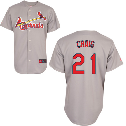 Allen Craig #21 Youth Baseball Jersey-St Louis Cardinals Authentic Road Gray Cool Base MLB Jersey