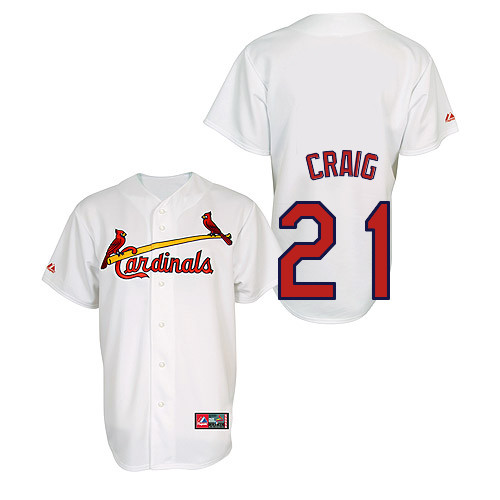 Allen Craig #21 Youth Baseball Jersey-St Louis Cardinals Authentic Home Jersey by Majestic Athletic MLB Jersey