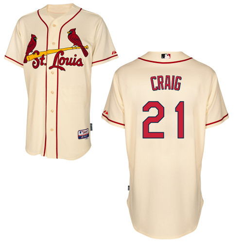 Allen Craig #21 MLB Jersey-St Louis Cardinals Men's Authentic Alternate Cool Base Baseball Jersey