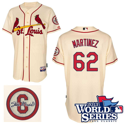 Carlos Martinez #62 MLB Jersey-St Louis Cardinals Men's Authentic Commemorative Musial 2013 World Series Baseball Jersey