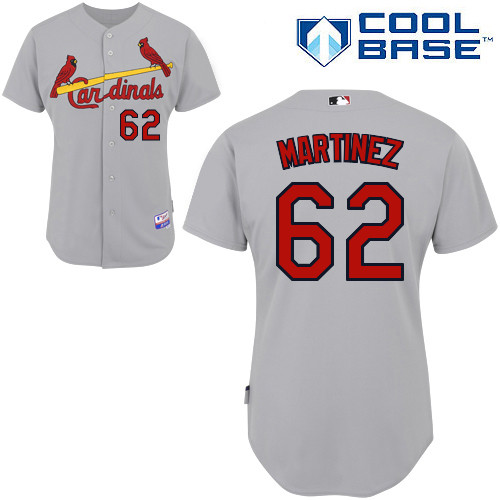 Carlos Martinez #62 MLB Jersey-St Louis Cardinals Men's Authentic Road Gray Cool Base Baseball Jersey