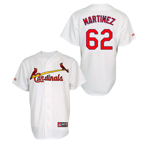 Carlos Martinez #62 MLB Jersey-St Louis Cardinals Men's Authentic Home Jersey by Majestic Athletic Baseball Jersey