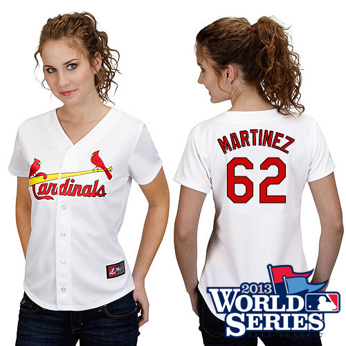 Carlos Martinez #62 mlb Jersey-St Louis Cardinals Women's Authentic Road Gray Cool Base Baseball Jersey