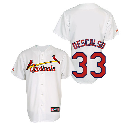 Daniel Descalso #33 Youth Baseball Jersey-St Louis Cardinals Authentic Home Jersey by Majestic Athletic MLB Jersey