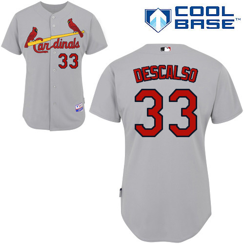 Daniel Descalso #33 MLB Jersey-St Louis Cardinals Men's Authentic Road Gray Cool Base Baseball Jersey