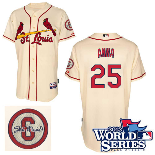 Dean Anna #25 mlb Jersey-St Louis Cardinals Women's Authentic Commemorative Musial 2013 World Series Baseball Jersey