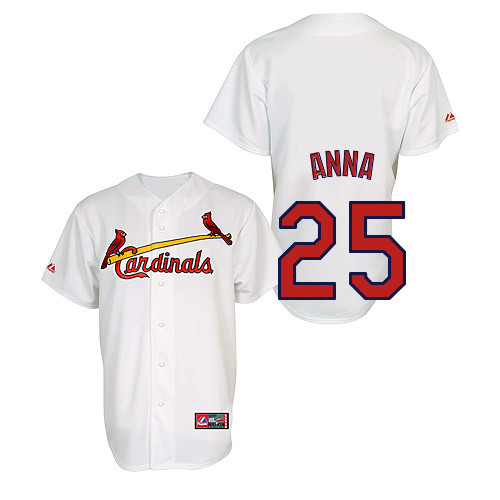 Dean Anna #25 Youth Baseball Jersey-St Louis Cardinals Authentic Home Jersey by Majestic Athletic MLB Jersey