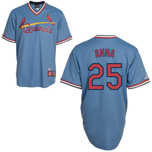 Dean Anna #25 Youth Baseball Jersey-St Louis Cardinals Authentic Blue Road Cooperstown MLB Jersey
