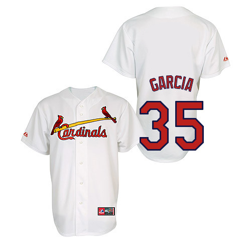 Greg Garcia #35 Youth Baseball Jersey-St Louis Cardinals Authentic Home Jersey by Majestic Athletic MLB Jersey