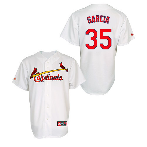 Greg Garcia #35 MLB Jersey-St Louis Cardinals Men's Authentic Home Jersey by Majestic Athletic Baseball Jersey