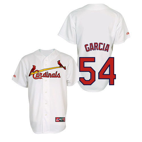 Jaime Garcia #54 Youth Baseball Jersey-St Louis Cardinals Authentic Home Jersey by Majestic Athletic MLB Jersey