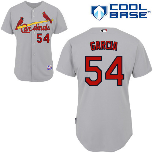 Jaime Garcia #54 MLB Jersey-St Louis Cardinals Men's Authentic Road Gray Cool Base Baseball Jersey