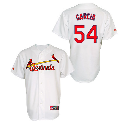 Jaime Garcia #54 MLB Jersey-St Louis Cardinals Men's Authentic Home Jersey by Majestic Athletic Baseball Jersey
