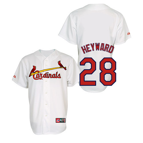 Jason Heyward #28 Youth Baseball Jersey-St Louis Cardinals Authentic Home Jersey by Majestic Athletic MLB Jersey