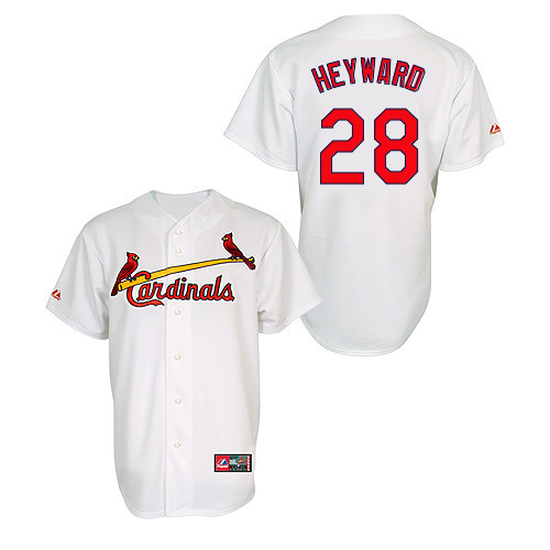 Jason Heyward #28 MLB Jersey-St Louis Cardinals Men's Authentic Home Jersey by Majestic Athletic Baseball Jersey