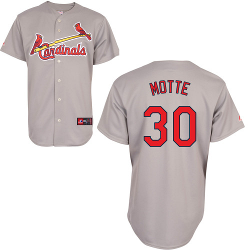 Jason Motte #30 Youth Baseball Jersey-St Louis Cardinals Authentic Road Gray Cool Base MLB Jersey