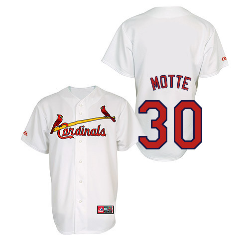 Jason Motte #30 Youth Baseball Jersey-St Louis Cardinals Authentic Home Jersey by Majestic Athletic MLB Jersey