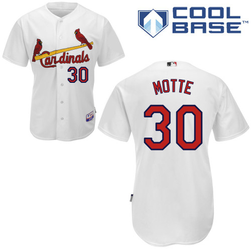 Jason Motte #30 MLB Jersey-St Louis Cardinals Men's Authentic Home White Cool Base Baseball Jersey