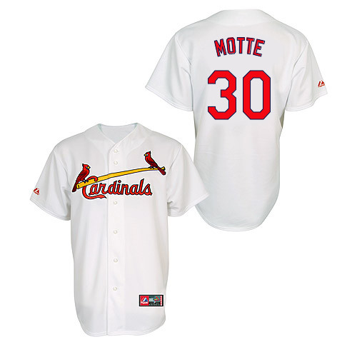 Jason Motte #30 MLB Jersey-St Louis Cardinals Men's Authentic Home Jersey by Majestic Athletic Baseball Jersey