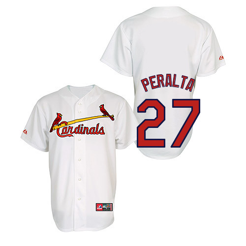 Jhonny Peralta #27 Youth Baseball Jersey-St Louis Cardinals Authentic Home Jersey by Majestic Athletic MLB Jersey
