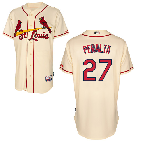 Jhonny Peralta #27 MLB Jersey-St Louis Cardinals Men's Authentic Alternate Cool Base Baseball Jersey