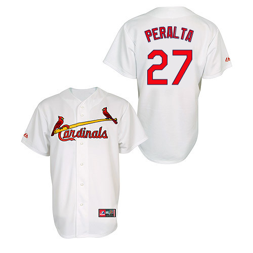 Jhonny Peralta #27 MLB Jersey-St Louis Cardinals Men's Authentic Home Jersey by Majestic Athletic Baseball Jersey