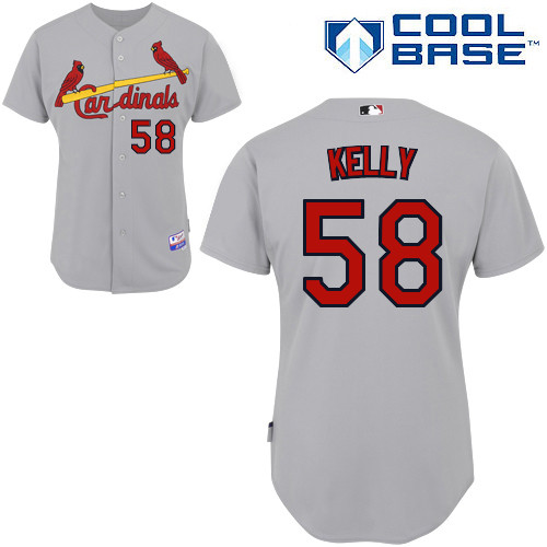 Joe Kelly #58 MLB Jersey-St Louis Cardinals Men\'s Authentic Road Gray Cool Base Baseball Jersey