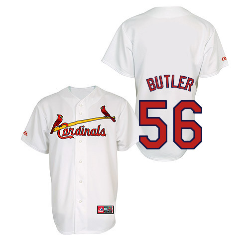 Joey Butler #56 Youth Baseball Jersey-St Louis Cardinals Authentic Home Jersey by Majestic Athletic MLB Jersey
