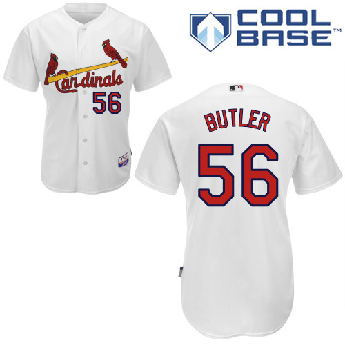 Joey Butler #56 MLB Jersey-St Louis Cardinals Men's Authentic Home White Cool Base Baseball Jersey