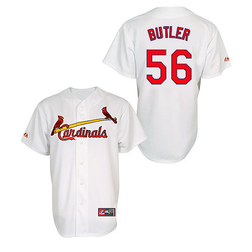 Joey Butler #56 MLB Jersey-St Louis Cardinals Men's Authentic Home Jersey by Majestic Athletic Baseball Jersey
