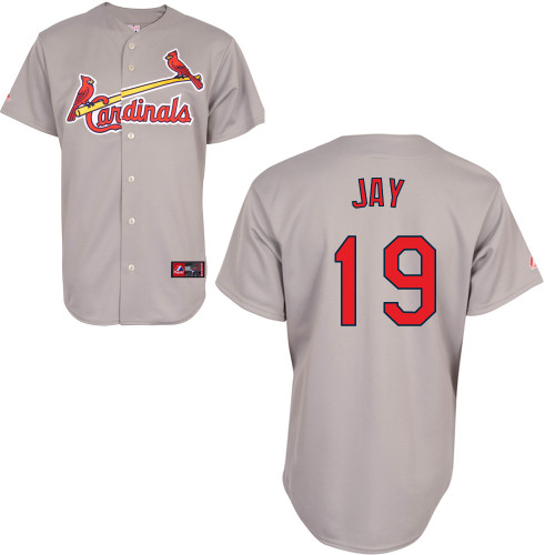 Jon Jay #19 Youth Baseball Jersey-St Louis Cardinals Authentic Road Gray Cool Base MLB Jersey
