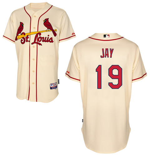 Jon Jay #19 MLB Jersey-St Louis Cardinals Men's Authentic Alternate Cool Base Baseball Jersey