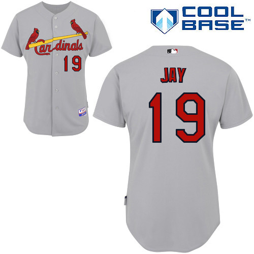 Jon Jay #19 MLB Jersey-St Louis Cardinals Men's Authentic Road Gray Cool Base Baseball Jersey