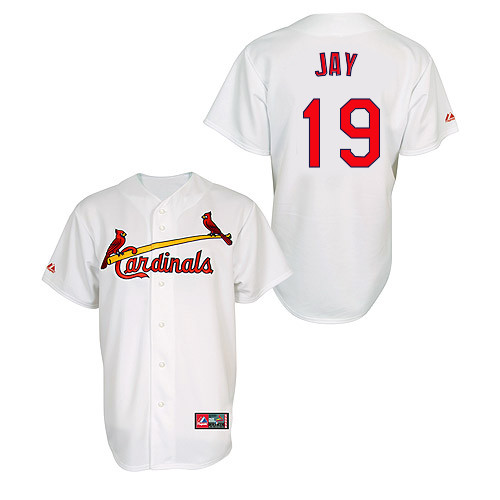Jon Jay #19 MLB Jersey-St Louis Cardinals Men's Authentic Home Jersey by Majestic Athletic Baseball Jersey