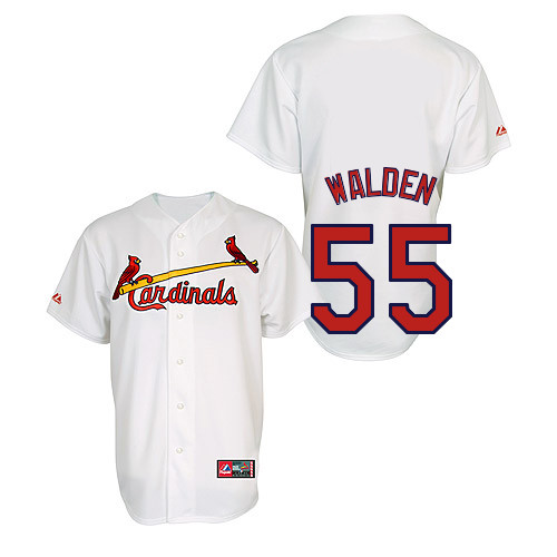Jordan Walden #55 Youth Baseball Jersey-St Louis Cardinals Authentic Home Jersey by Majestic Athletic MLB Jersey