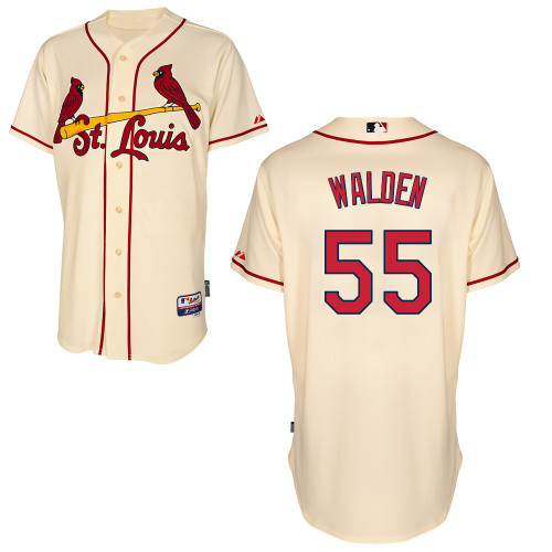 Jordan Walden #55 MLB Jersey-St Louis Cardinals Men\'s Authentic Alternate Cool Base Baseball Jersey