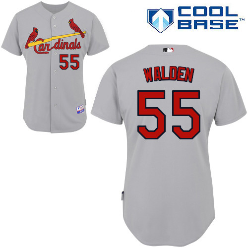 Jordan Walden #55 MLB Jersey-St Louis Cardinals Men's Authentic Road Gray Cool Base Baseball Jersey