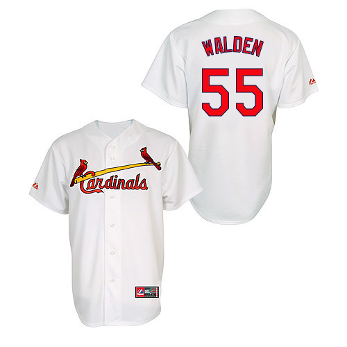 Jordan Walden #55 MLB Jersey-St Louis Cardinals Men's Authentic Home Jersey by Majestic Athletic Baseball Jersey