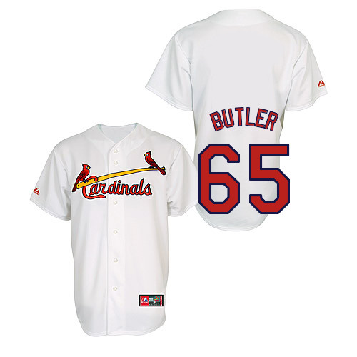 Keith Butler #65 Youth Baseball Jersey-St Louis Cardinals Authentic Home Jersey by Majestic Athletic MLB Jersey