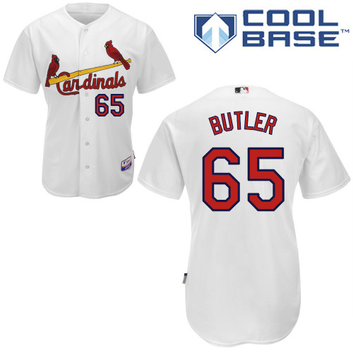 Keith Butler #65 Youth Baseball Jersey-St Louis Cardinals Authentic Home White Cool Base MLB Jersey