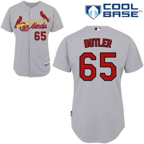 Keith Butler #65 MLB Jersey-St Louis Cardinals Men's Authentic Road Gray Cool Base Baseball Jersey