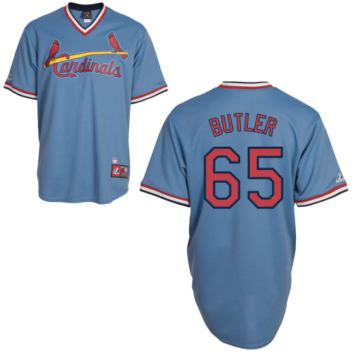 Keith Butler #65 Youth Baseball Jersey-St Louis Cardinals Authentic Blue Road Cooperstown MLB Jersey