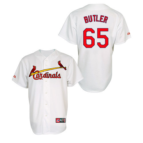 Keith Butler #65 MLB Jersey-St Louis Cardinals Men\'s Authentic Home Jersey by Majestic Athletic Baseball Jersey