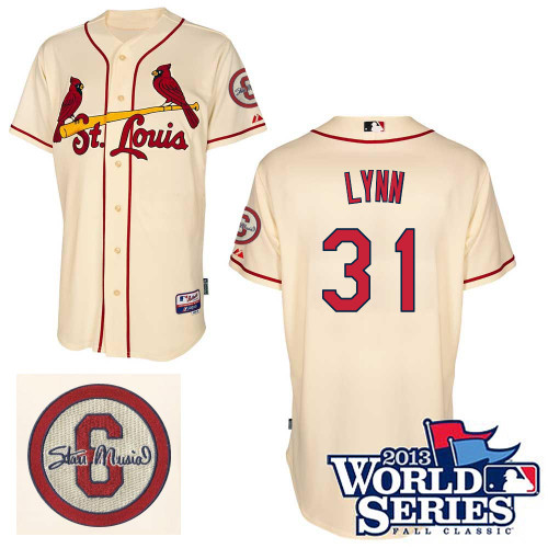 Lance Lynn #31 MLB Jersey-St Louis Cardinals Men's Authentic Commemorative Musial 2013 World Series Baseball Jersey