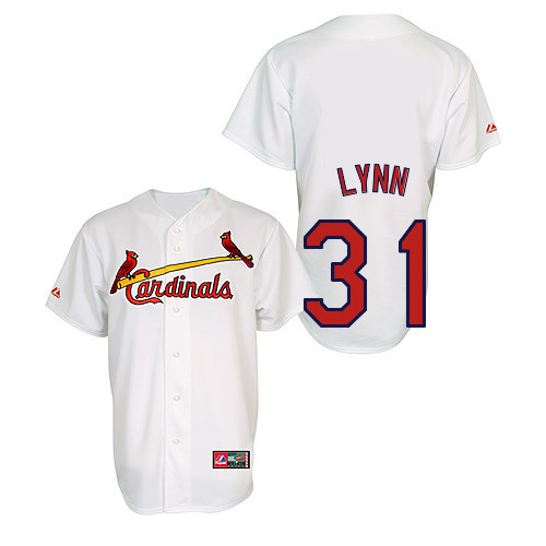 Lance Lynn #31 Youth Baseball Jersey-St Louis Cardinals Authentic Home Jersey by Majestic Athletic MLB Jersey