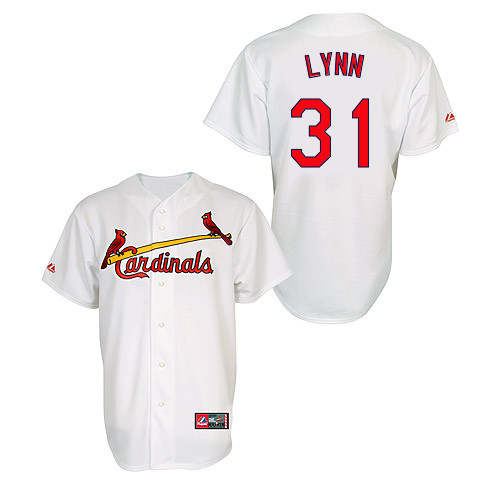 Lance Lynn #31 MLB Jersey-St Louis Cardinals Men's Authentic Home Jersey by Majestic Athletic Baseball Jersey