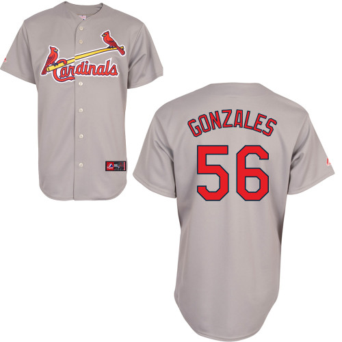 Marco Gonzales #56 Youth Baseball Jersey-St Louis Cardinals Authentic Road Gray Cool Base MLB Jersey