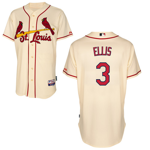 Mark Ellis #3 mlb Jersey-St Louis Cardinals Women's Authentic Alternate Cool Base Baseball Jersey