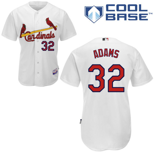 Matt Adams #32 mlb Jersey-St Louis Cardinals Women's Authentic Home White Cool Base Baseball Jersey