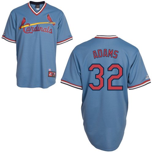 Matt Adams #32 MLB Jersey-St Louis Cardinals Men's Authentic Blue Road Cooperstown Baseball Jersey
